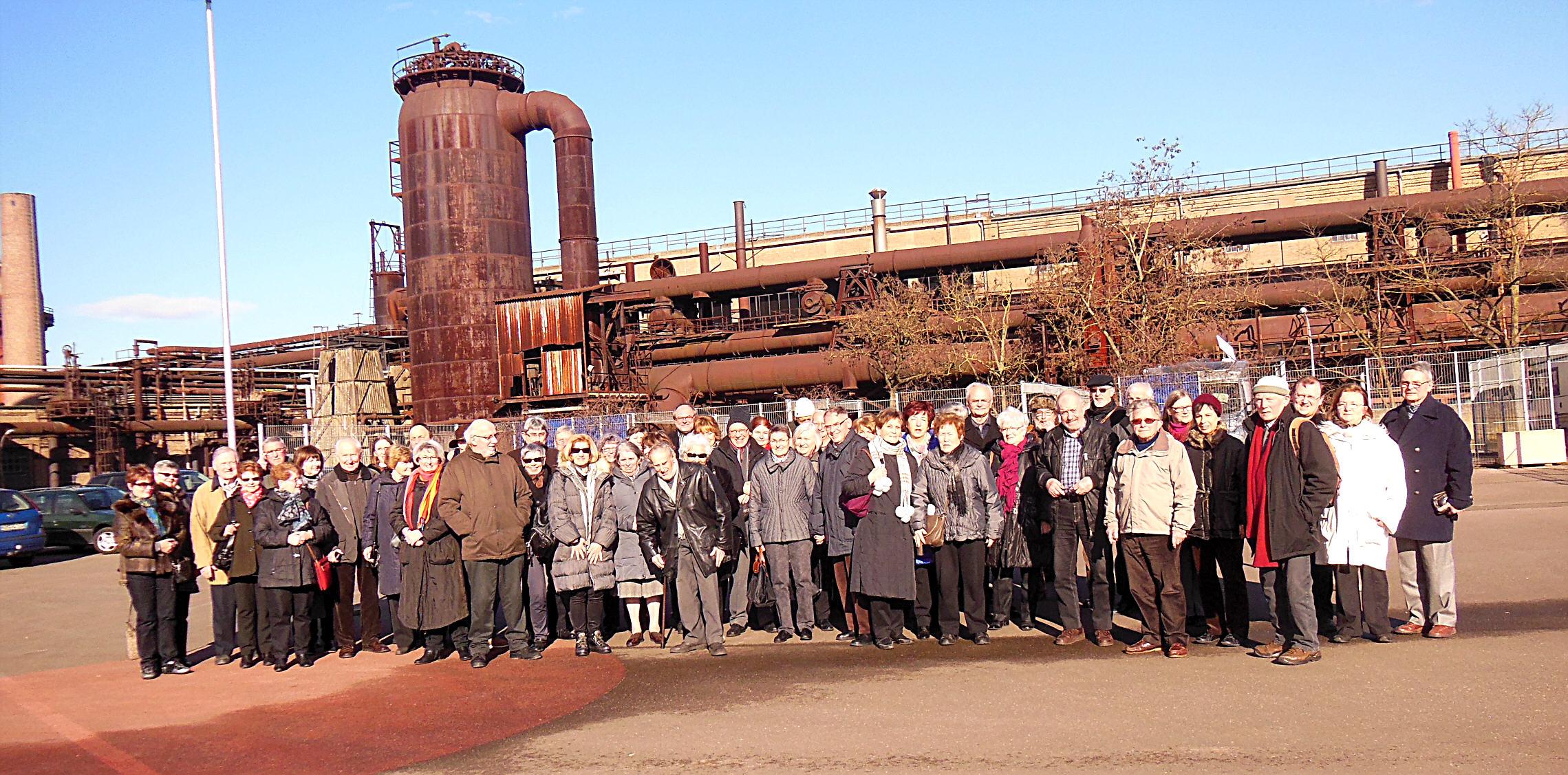 Le groupe devant la Voelklinger H++tte